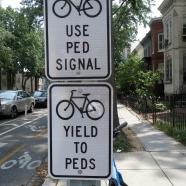 Bike street signs