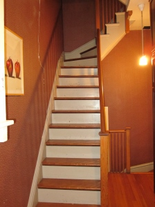 Secondary stairway, BEFORE
