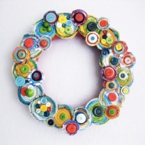 Canvas Layers Holiday Wreath by Alisa Burke