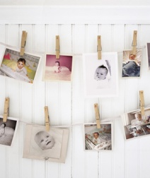 Clothes Pin Garland from Realsimple