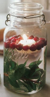 Floating Cranberry Candle Jar by botanicalpaperworks