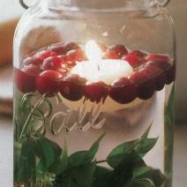 Floating Cranberry Candle Jar by botanicalpaperworks