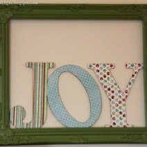 Framed Christmas Joy by cupofdelight at Blogspot