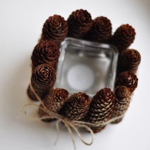 Pinecone Candle Holder from Sheepy