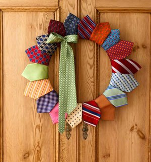 Tie Wreath on Goodhousekeeping.com photo by Michael Arnaud