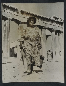 Agatha Christie visits the Acropolis 1958, Flickr Commons