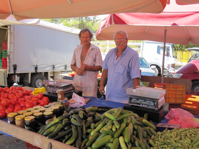 weekly market in Ermioni, Greece, 2011