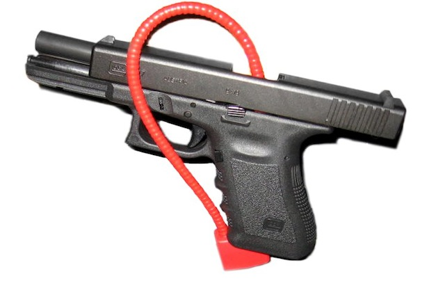 Glock with lock Wikimedia Commons
