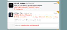 Shatner tweeted me